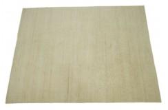 100% welniany ręcznie tkany dywan Nepal Premium 170x235cm gładki beżowy
