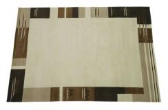 100% welniany ręcznie tkany dywan Nepal Premium brązowy 170x240cm klasyczny