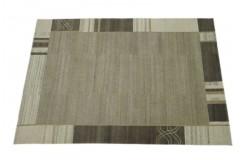 100% welniany ręcznie tkany dywan Nepal Premium szary brązowy 140x200cm geometryczny