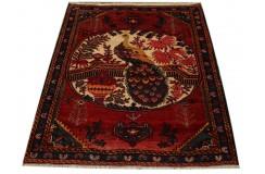 Dywan rękodzieło Beludż Fein obrazowy 100% wełna 119x145cm oryginalny z Iranu tradycyjny perski