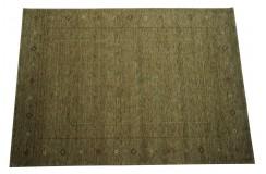 Ekskluzywny dywan Gabbeh Loribaft Indie 170x240cm 100% wełniany zielony z deseniem etniczny