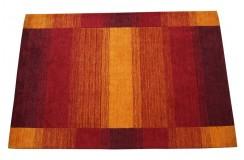 Dywan w pasy czerwony 100% wełna Gabbeh tafting 140x200cm