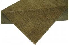 Ekskluzywny dywan Gabbeh Loribaft Indie 140x200cm 100% wełniany zielony z deseniem etniczny