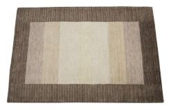 W kwadraty nowoczesny dywan Gabbeh Handloom Lori 100% wełna zielony 120x180cm