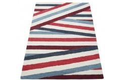 Nowoczesny brązowy dywan do salonu 100% wełniany tafting 160x230cm