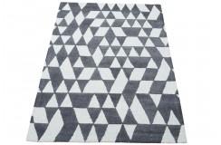 Nowoczesny beżowo szary dywan do salonu 100% wełniany tafting 160x230cm