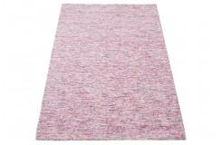 Nowoczesny różowy dywan z kolorowym desenim dywan do salonu 100% wełniany tafting 160x230cm