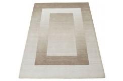 Nowoczesny beżowy dywan do salonu 100% wełniany tafting 160x230cm