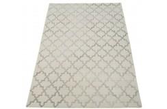 Marokańska koniczyna beżowo szary dywan do salonu 100% wełniany tafting 160x230cm
