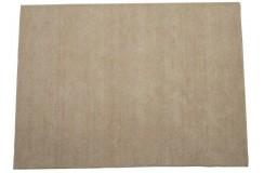 Ecru gładki dywan do salonu 100% wełniany tafting 160x230cm