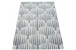 Piękny beżowo szary dywan do salonu 100% wełniany tafting 160x230cm