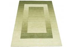 Nowoczesny zielony dywan do salonu 100% wełniany tafting 160x230cm