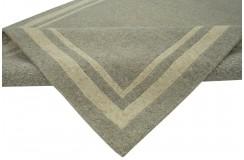 100% welniany ręcznie tkany dywan Nepal Premium szary beżowy 140x200cm geometryczny
