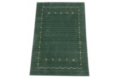 Gładki  dywan Gabbeh Handloom Lori wełna wiskoza zielony 120x180cm
