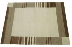 100% welniany ręcznie tkany dywan Nepal Premium beż brąz 160x230cm klasyczny