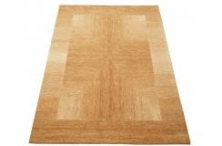 Nowoczesny pomarańczowy dywan do salonu 100% wełniany tafting 160x230cm