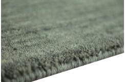 Gładki 100% wełniany dywan Gabbeh Handloom szary170x240cm bez wzorów