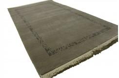 Piękny wysokiej jakości dywan z nepalu szary nowoczesny 90x160cm wełna owcza