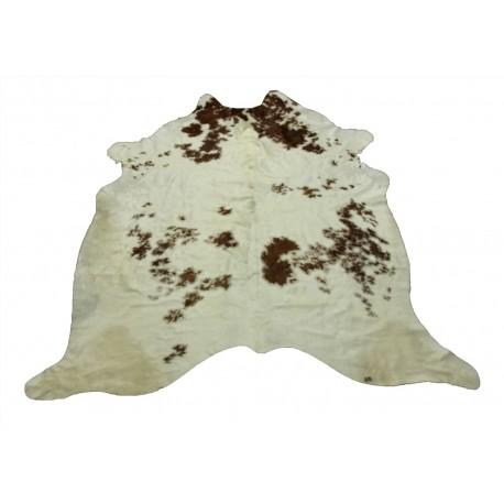 Dywan południowoamerykańska naturalna skóra bycza XXL - bydlęca 5m2 UNIKAT biały brązowy 225x210cm