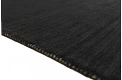 Gładki 100% wełniany dywan Gabbeh szary 170x240cm Indie