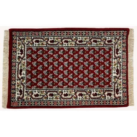 Wełniany ręcznie tkany dywan Mir z Indii 60x90cm orientalny czerwony