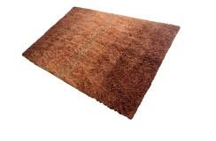 Gruby ciepły dywan shaggy 100% wełna 150x225cm Indie w pasy