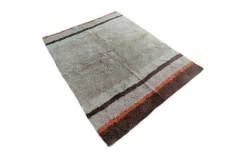 Gruby ciepły dywan shaggy 100% wełna 170x240cm beżowy brązowy