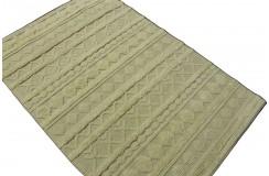 Dwupoziomowy ręcznie tkany dywan wełniany 130x200cm Indie