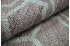Płasko tkany dywan Vintage 160x230 różowy beżowy niepowtarzalny z Indii poliester bawełna