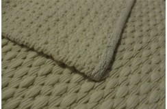 Ecru kilim nowoczesny zplatany 100% wełniany dywan płasko tkany 70x140cm dwustronny Indie