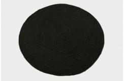 Sznurkowy pąsko zaplatany ręcznie tkany dwustronny kilim - dywan 100% juta 200x200cm okrągły naturalny