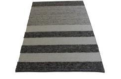 Luksusowy dywan Brinker Carpets zaplatany z wełny filcowanej w pasy160x230cm gruby