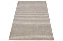 Geometryczny beżowy dywan do salonu 100% wełniany tafting 160x230cm