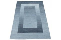 Geometryczny fioletowy dywan do salonu 100% wełniany tafting 160x230cm