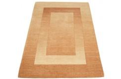 Geometryczny beżowy dywan do salonu 100% wełniany tafting 160x230cm wzór gabbeh