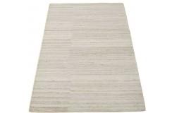 Geometryczny beżowy dywan z deseniem do salonu 100% wełniany tafting 160x230cm
