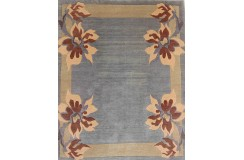 Wysokiej jakości 100% welniany dywan NEPAL ORGINAL FEIN 200x260cm szaro-niebieski
