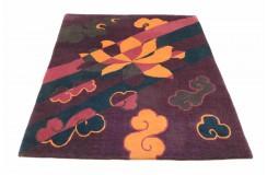 Wysokiej jakości 100% welniany dywan NEPAL ORGINAL FEIN 170x240cm fioletowy