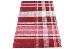 Geometryczny czerwony dywan do salonu 100% wełniany tafting 160x230cm