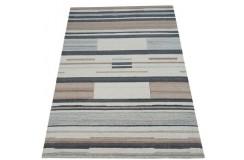 Geometryczny beżowo-brązowy dywan do salonu 100% wełniany tafting 160x230cm