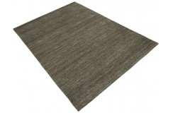 Brązowy dywan z deseniem do salonu 100% wełniany tafting 160x230cm