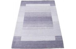 Geometryczny fioletowy dywan do salonu 100% wełniany tafting 160x230cm wzór gabbeh