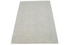 Geometryczny beżowy dywan dwupoziomowy do salonu 100% wełniany tafting 160x230cm