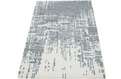 Beżowo-szary dywan w stylu vintage do salonu 100% wełniany tafting 160x230cm