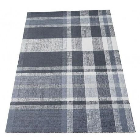 Geometryczny szary dywan do salonu 100% wełniany tafting 160x230cm