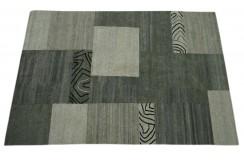 100% Welniany ręcznie tkany dywan Nepal Premium natural 210x300cm szary patchwork