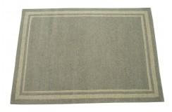 100% welniany ręcznie tkany dywan Nepal Premium szary 170x230cm prosty wzór