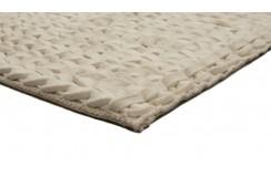 Luksusowy dywan Brinker Carpets Hay 110 biały 200x300cm 100% wełna filcowana warkocze