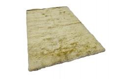 Gruby ciepły dywan shaggy 100% poliester 170x240cm żółty Indie