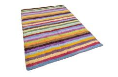 Gruby ciepły dywan shaggy 100% wełna 170x240cm kolorowy Indie nowoczesny